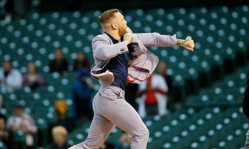 Conor McGregor leaps to his own defence after 'terrible' first pitch