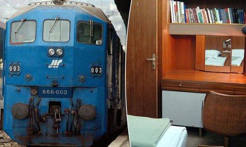Inside former Yugoslavian ruler Josip Broz Tito's time capsule train