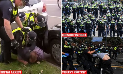 Anti-lockdown protestor filmed being slapped and kicked by police