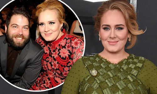 Adele's ex Simon Konecki and son Angelo, 9, attend her special taping