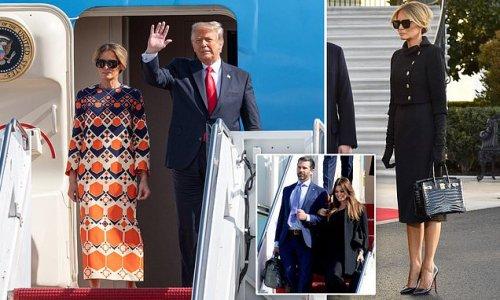 Donald and Melania Trump arrive in Mar-a-Lago
