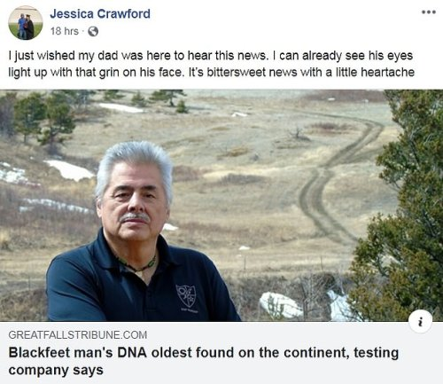 The oldest DNA in North America: At-home genetic test traces Montana man's family history back 55 GENERATIONS to ancient humans that crossed the Bering Land Bridge 17,000 years ago