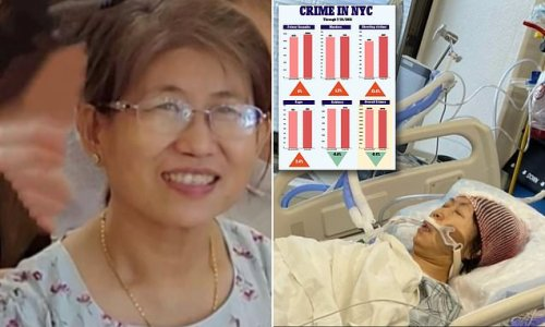 Asian woman, who was in a coma after NYC subway attack dies