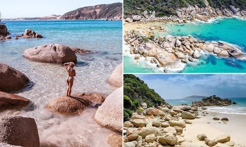This beach looks like the Seychelles but it's near a major Aussie city