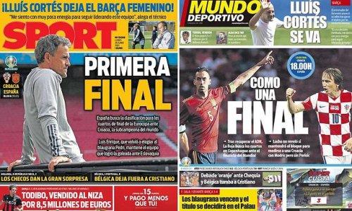 Euro 2020: Spanish newspapers pile pressure on for Croatia last-16 tie