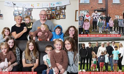 Inside Britain's biggest families: Parents open up about large broods