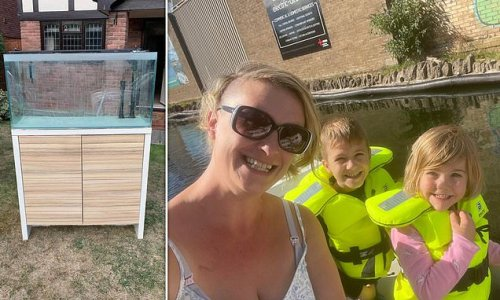 Mother fined for fly tipping after leaving a fish tank outside house