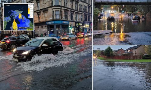 Glasgow FLOODS days before it is due to host world leaders at COP26
