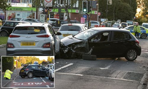 Driver is arrested after schoolgirl, 11, is seriously injured in crash