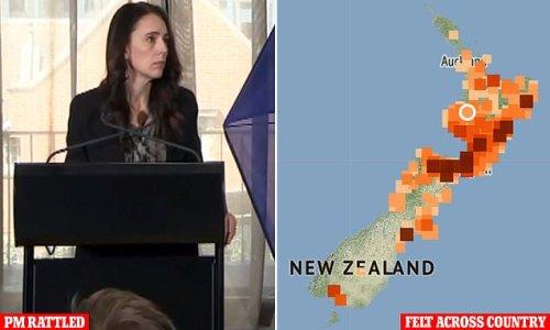 Huge 5.9 magnitude earthquake strikes New Zealand