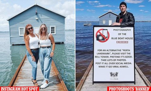 Influencers are 'banned' from taking photos at iconic Perth boat house