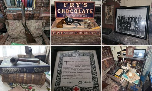 Abandoned home of war veteran is filled with historic memorabilia