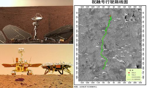 China's Zhurong rover snaps panorama of Mars to mark 100th day