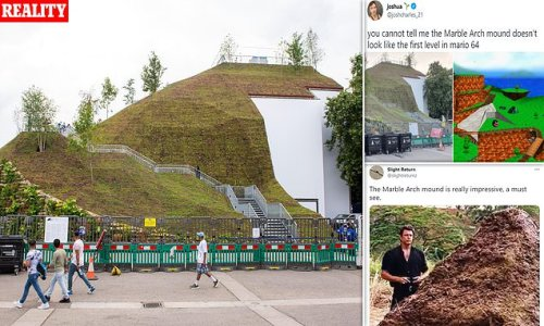 London's £2m Marble Arch Mound mocked for looking like a 'slag heap'