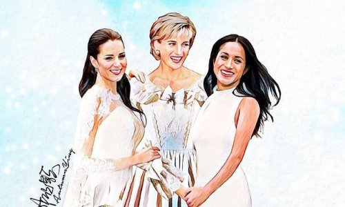 Artist imagines life for the Royal Family if Diana was still alive