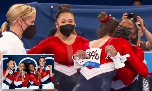 VIDEO: Moment Simone Biles told teammates she was pulling out of final