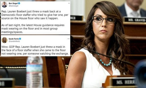 Lauren Boebert 'throws mask at House staffer who handed it to her'