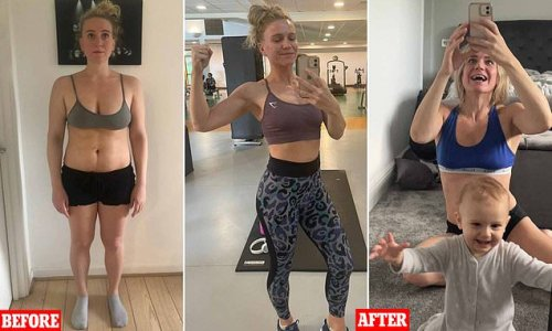 New mother drops FIVE stone at home workout app