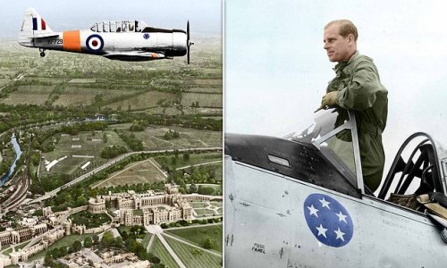 Royals release photo tribute of Prince Philip flying over Windsor