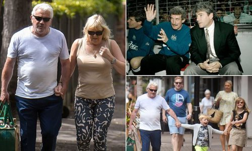 Kevin Keegan is spotted out with his grandkids in Cheshire