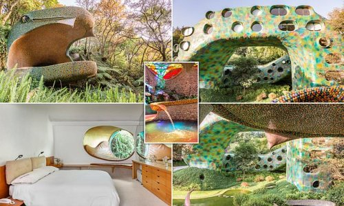 The sssensational Airbnb in Mexico that's shaped like a giant snake