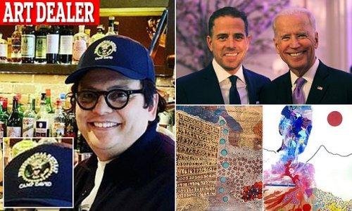 Hunter Biden's art dealer wears Camp David hat