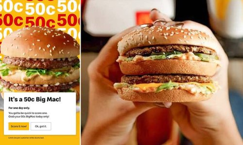 How you can get Big Mac burgers for 50 CENTS TODAY - but be quick