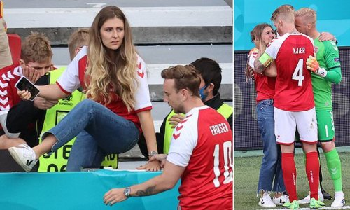 How selfless Denmark stars comforted Christian Eriksen's partner