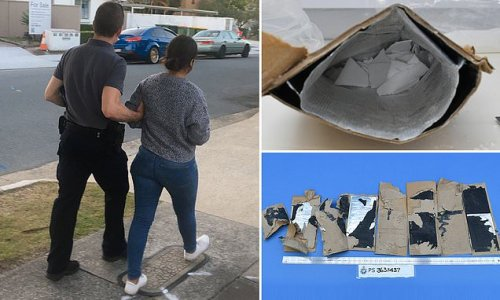 Woman arrested after cops send her replica package of Mexican crafts