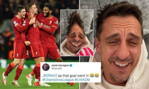 Jamie Carragher hilariously mocks Gary Neville AGAIN