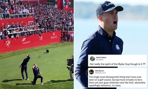 Thomas and Berger criticised for downing beers at the Ryder Cup