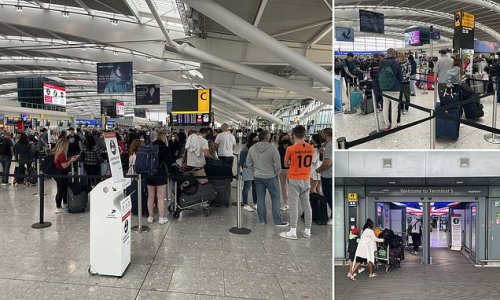Heathrow arrivals wait for 'three hours' after 'e-gates break down'