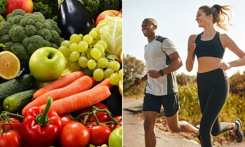 Eating fruits and vegetables and exercising lead to a happier life