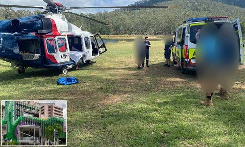 Boy airlifted to hospital after falling from a rope swing