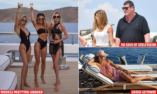 James Packer spotted aboard superyacht with three models in Mykonos