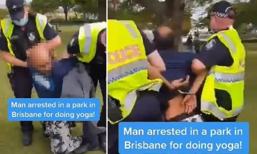 Protestors claim they're doing YOGA in a park when they were arrested