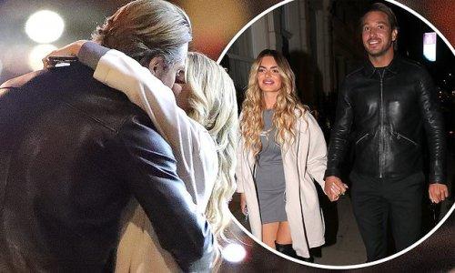 Megan Barton Hanson shares a passionate kiss with new beau James Lock
