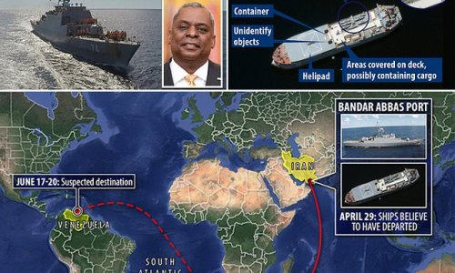 Iranian warship 'en route to Venezuela' has sovereign immunity
