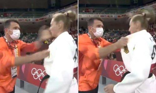 German judoka Martyna Trajdos defends coach who shook and slapped her
