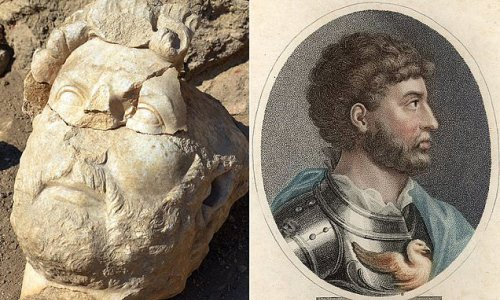 Statue of Hadrian found in pieces nearly 2,000 years after it fell
