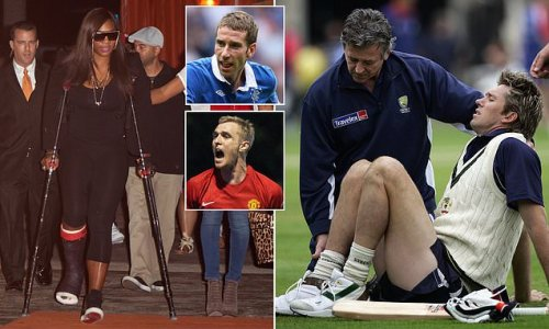 From Williams to McGrath... here are 20 bizarre sporting injuries