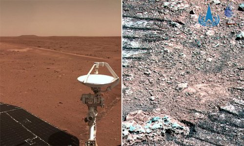China's space agency has released five new images from Mars
