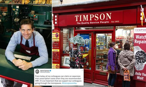 James Timpson after new policy for staff to claim back HRT costs