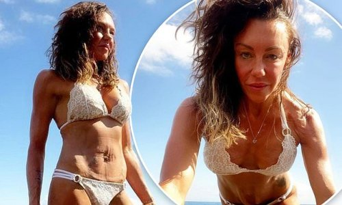 Michelle Heaton, 42, debuts her enviable physique in Tenerife