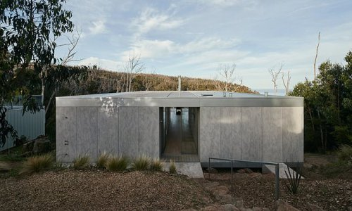 The property paying homage to Aussie bushfire-ravaged surroundings