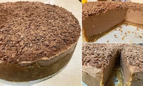 Eight-year-old girl makes mouth-watering Toblerone cheesecake
