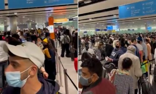 Heathrow Airport in chaos with '1000's' stuck in 3 hour border queues