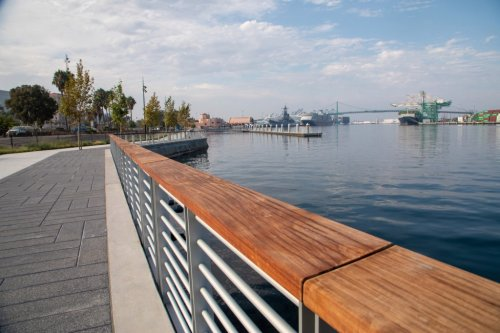 Hidden by construction fences, San Pedro's new waterfront is taking shape