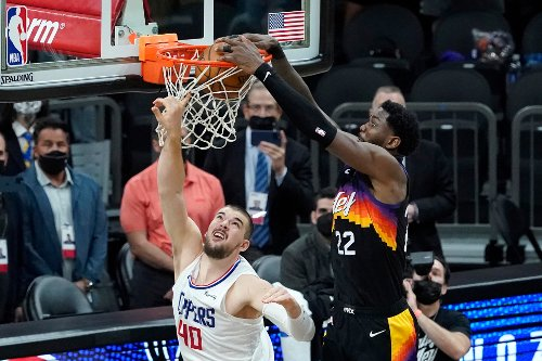 Suns edge Clippers on Deandre Ayton's last-second alley-oop for 2-0 series lead