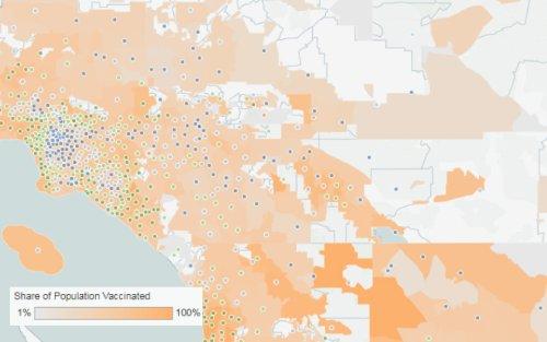 Coronavirus: These maps show vaccine rates for every California ZIP code
